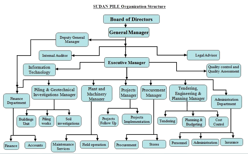 Flow Chart Of Company  Company Flow Chart Template